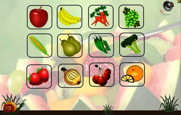 GAME fruit and vegetables